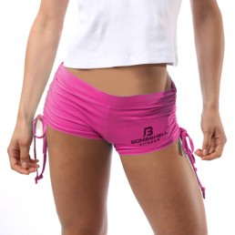 Bombshell Fitness Tie Shorts - Pink