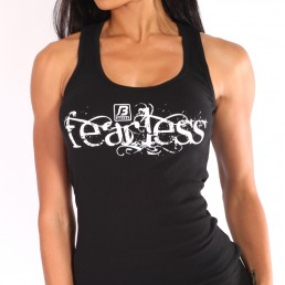 Bombshell Fearless- Ribbed Tank - White