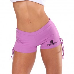 Bombshell Fitness Tie Shorts - Purple